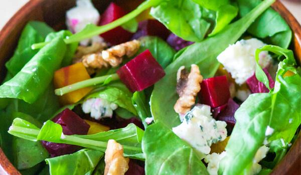 spinaci, pera e barbabietole