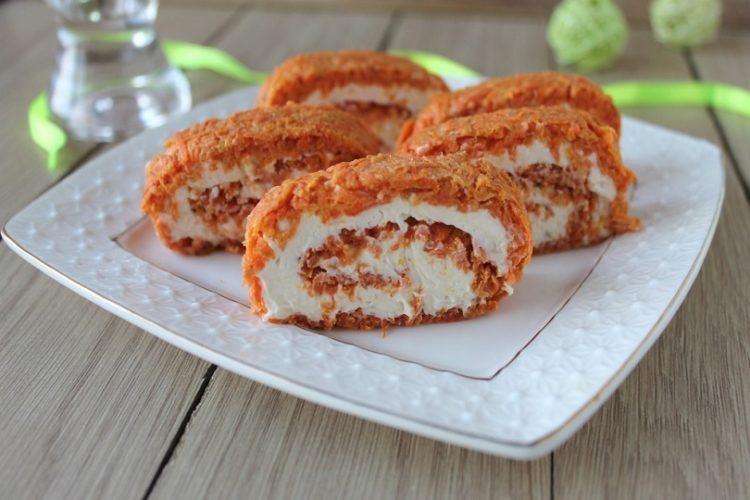 Rotolo di carote salato senza glutine